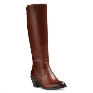 New GENUINE LEATHER Heeled Boots Red Cedar Zip Up